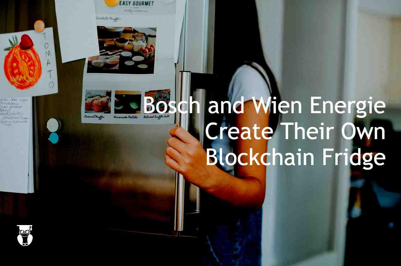 Blockchain fridge by Wen Energie & Bosch