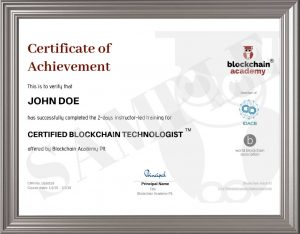 Certificate of Achievement CBT
