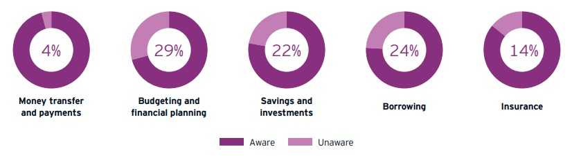 Consumer awareness of Fintech services