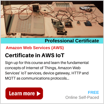 Certificate in AWS IoT banner