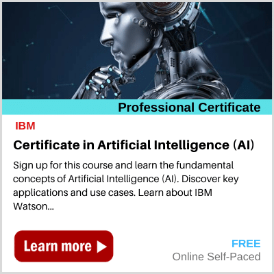 Certificate in Artificial Intelligence AI banner