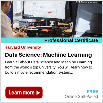 Data Science Machine Learning course Harvard