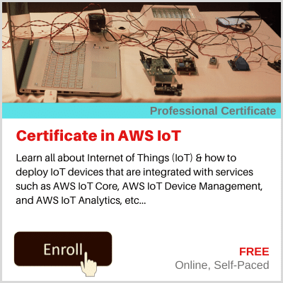 Certificate in AWS IoT Course Banner