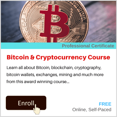 Bitcoin and Cryptocurrency Course Banner