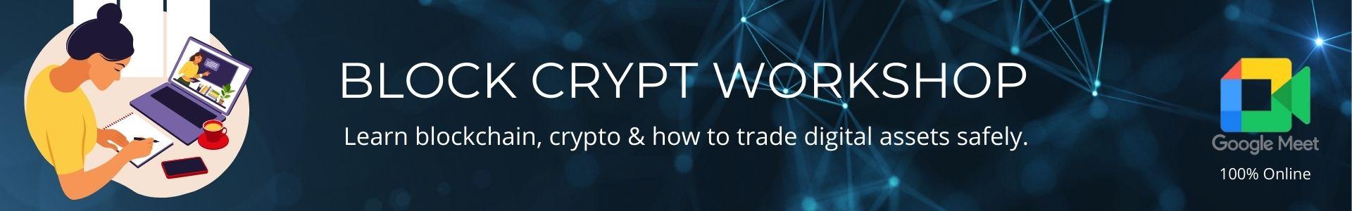 Block Crypt Workshop Enrollment Form Page Header