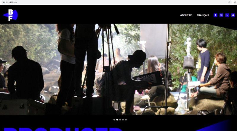 BlockFilm Homepage Screenshot