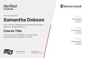 Sample Certificate University X