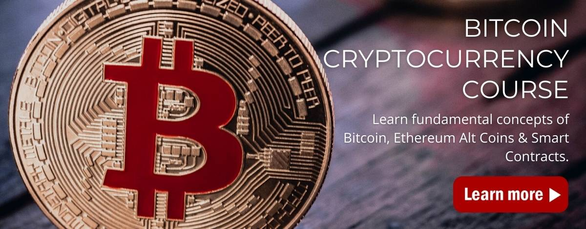 Bitcoin Cryptocurrency Course Home Page Banner